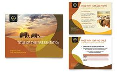 African Safari PowerPoint Template Backgrounds African Safari - Powerpoint brochure template