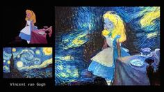 'Alice In Wonderland' Scenes Imagined In The Style Of Picasso, Famous Painters - DesignTAXI.com