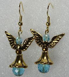 Brincos Anjo Azul- Christmas Earrings - D'Rae Designs