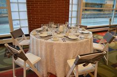 Miller's Party Rental Center white and silver wedding decor ideas from the Today's Bride Show