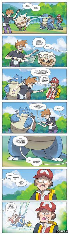 How does he pee? #Pokemon #Comic #dorkly