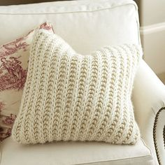 If you've ever had a favorite cable knit or Irish Fisherman's sweater, you'll know exactly how cozy our Wiltern Knit Pillow feels. The chunky weave is hand knitted in thick cream wool.