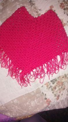 Poncho crochet bebe