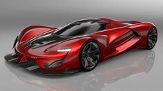 2015 SRT Tomahawk Vision Gran Turismo Red Car HD Wallpaper