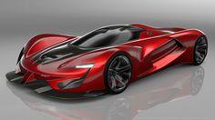 2015 SRT Tomahawk Vision Gran Turismo Red Car HD Wallpaper