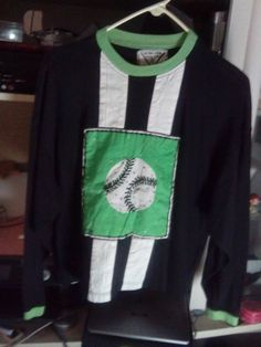 TOP/UNISEX/ULTRA PINK/PRE-OWNED/EXCELLENT COND./LIME GRN.BLK.WHITE/BASEBALL MTF  #ULTRAPINK #LONGSLEEVEBLOUSE #ALLOCCASIONUNISEX