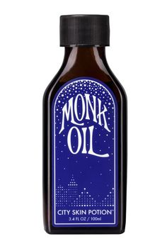 """Bacon hydrates head to toe with Monk Oil """"crafted only at the new and full moons."""" This blend of avocado, apricot kernel, cedar, lavender, and rose otto oils is enhanced with flower essences (yarrow, arnica, echinacea) and rose quartz crystal."""