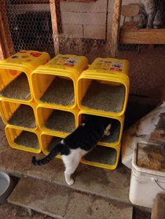 Casas e abrigos (econômicos alguns) para cães e gatos ~ ARQUITETANDO IDEIAS
