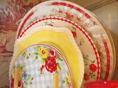 A collection of pretty plates.