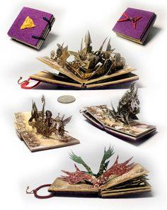 Agathon s apparatus Mini Pop-up Book by HandmadeBook on Etsy Arte Pop Up, Pop Up Art, Foam Crafts, Paper Crafts, Diy Crafts, Origami Templates, Box Templates, Paper Gift Box, Gift Boxes