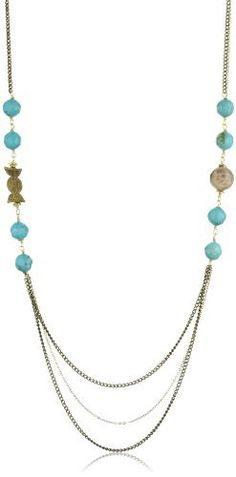 MINU Jewels Princess Necklace MINU Jewels. $48.99. Feel like a princess with this necklace large faceted turquoise, faceted peach moonstone, gold vermeil and african brass charms necklace with brass chains. Turquoise is dyed. Made in United States. Not adjustable