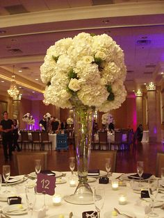 White and green classic centerpiece