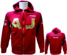 #Sudadera AJ con #impresion #textil, 100% #poliutretano. Personalización de sudadera mediante prensa de calor. Textiles, Motorcycle Jacket, Jackets, Fashion, Heat Press, Couture, Fur, Sports, Clothing