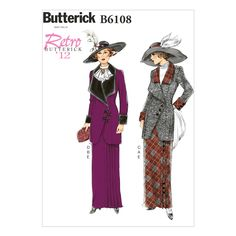 Misses Jacket, Bib and Skirt Butterick Pattern 6108.