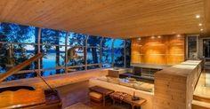 Trendy living room - Modern Daniel White Home in Saanich, BC, Canada