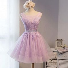 Lovely Lilac Lace Short Homecoming Prom Dresses, Affordable Short Party Prom Sweet 16 Dresses, Perfect Homecoming Cocktail Dresses
