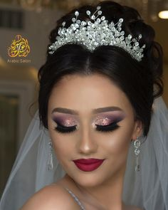 Nişan Bridal Hair And Makeup, Bride Makeup, Hair Makeup, Quince Hairstyles, Wedding Hairstyles, Makeup For Black Skin, Beautiful Eye Makeup, Makeup Must Haves, Beauty Habits