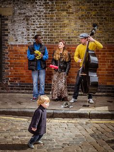 Local gig at Columbia Road Flower Market, East End London  Visiting the flower market and listening to live-band street performers. ❤️
