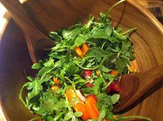Arugula Salad with Sesame Vinaigrette - A Cedar Spoon