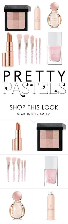 """""""Pastel Pink Makeup"""" by elizabeth-rose-13 ❤ liked on Polyvore featuring beauty, Estée Lauder, Bobbi Brown Cosmetics, Forever 21, The Hand & Foot Spa, Bulgari and Drybar"""
