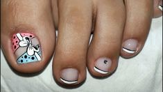 Toe Nail Art, Toe Nails, Cute Pedicure Designs, Purple And Pink Nails, Cute Pedicures, Hair Designs, Tatt, Hair Beauty, Lily