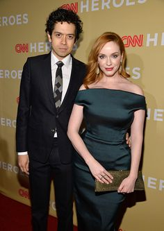 Geoffrey Arend and Christina Hendricks attend the 2014 CNN Heroes: An All Star Tribute at American Museum of Natural History on November 18, 2014 in New York City