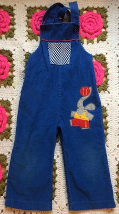 Elephant Overalls Toddlers 2/3 by lishyloo on Etsy