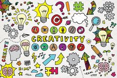 Creativity Clipart Illustrations Set by Lemonade Pixel on @creativemarket
