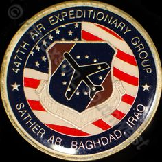 Challenge Coin 447th Air Expeditionary Group Sather AB Baghdad Iraq Well Done!  #ChallengeCoin #447th #SatherAB #Baghdad