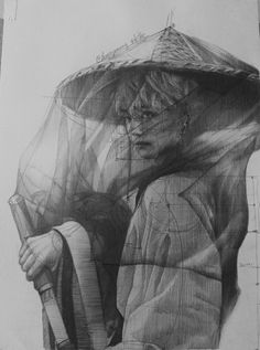 I'm so disappointed about this piece .the neck is a bit too short and the shoulder too tigh but i'm too lazy (when i say im lazy i really… Taehyung Fanart, Bts Taehyung, Kpop Drawings, Bts Fans, Kpop Fanart, Gay Art, Manga, Bts Photo, Bts Pictures