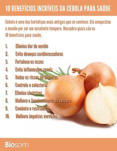 Clique na imagem para ver os 10 benefícios incríveis da cebola para saúde #cebola #verdura #vitamina #saúde #benefícios