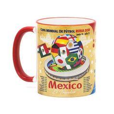 """Mexico, Futbol Soccer """"The Road To Russia 2018"""" Souvenir Mug"""