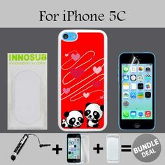 Cute Panda Couple Custom iPhone 5C Cases-White-Plastic,Bundle 3in1 Comes with Screen Protector/Universal Stylus Pen by innosub. 3in1 BUNDLE INCLUDED: iPhone 5C Case+Mini Stylus Pen+Screen Protector. Compatible with iPhone 5C - Verizon, AT&T, T-Mobile, Sprint, International models. Our Cases Comes with Advanced Shock Absorption Technology, Also Includes Screen Protector and Mini Stylus Pen Fine Point. Protective slim case features a specialized coating to provide long-lasting protection…