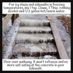Gonna try this for my icy sidewalk this winter
