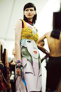 Outfit detail from Prada SS14. http://www.dazeddigital.com/fashion/article/17252/1/inside-the-magical-world-of-prada