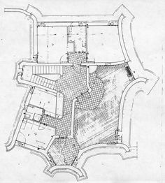 Drawing Housing  Paolo Portoghesi, Casa Baldi, 1959-1962, Roma, Italia