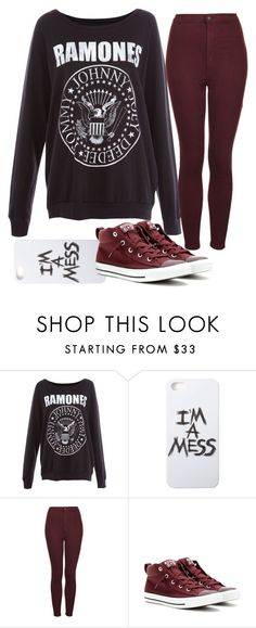 """stress"" by llmargaretll ❤ liked on Polyvore featuring Pull&Bear, LAUREN MOSHI, Topshop, Converse, women's clothing, women's fashion, women, female, woman and misses"