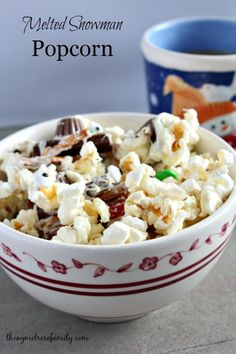 Melted Snowman Popcorn Recipe