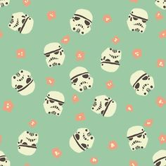 Stormtrooper fabric, girls like star wars too! Illustration Arte, Pattern Illustration, Illustrations, Pretty Patterns, Beautiful Patterns, Color Patterns, Beautiful Images, Cute Pattern, Pattern Design