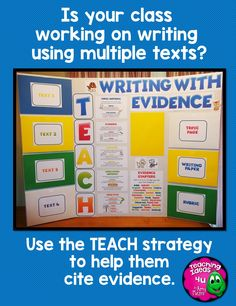 Is your state writing test focused on using text evidence from multiple texts or sources?  Use the TEACH strategy to help your students cite and analysis evidence.  This is a writing center plus two sets of paired texts that are leveled for grades 4-6.  Many extras included! $