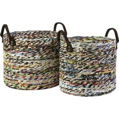 Love this baskets made from recycled magazines