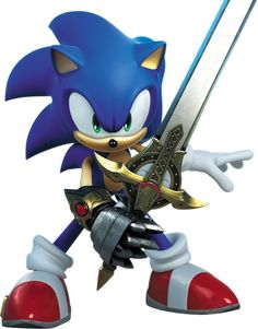 Sonic with his sword Calibur in the game Sonic and the Black Knight Sonic Boom, Game Sonic, Sonic And Amy, Sonic And Shadow, Sonic The Hedgehog, Hedgehog Art, Shadow The Hedgehog, Sonic 25th Anniversary, Sonic Underground
