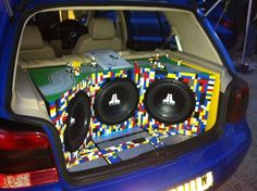 'Lego' and let your creativity fly! What do you think of this unique custom car audio install?
