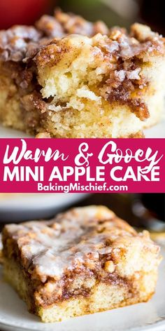 This Small Apple Cinnamon Cake is the perfect breakfast for cozy fall mornings. Baked Apple Dessert, Apple Dessert Recipes, Pumpkin Dessert, Apple Recipes, Cake Recipes, Apple Cinnamon Cake, Apple Coffee Cakes, Apple Cakes, Small Desserts