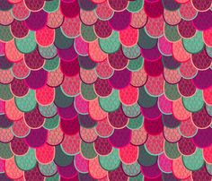 surface design by lydia meiying - fish scales & mermaid tales