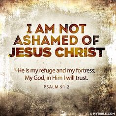 I am not ashamed of Jesus Christ ~~I Love the Bible and Jesus Christ, Christian Quotes and verses. Bible Verses Quotes, Bible Scriptures, Faith Quotes, Jesus Christ Quotes, Jesus Teachings, Bible 2, Scripture Cards, Bible Prayers, Life Quotes Love