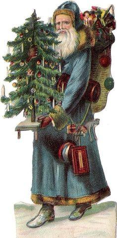 Wish You Merry Christmas, Santa Christmas, Winter Christmas, Xmas, Vintage Christmas Images, Victorian Christmas, Vintage Tags, Vintage Santas, Christmas Graphics