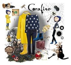 """Coraline"" by musical-s ❤ liked on Polyvore featuring art"