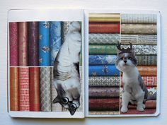 mindy's sketchbook is naturally all about our cat. she likes to collage, so many of the pages were done that way. Sketchbook Project, This Is Us, Collage, Cats, Projects, Animals, Log Projects, Collages, Gatos
