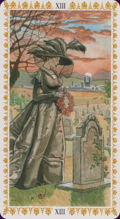 Romantic-Tarot - Death- If you love Tarot, visit me at www.WhiteRabbitTarot.com